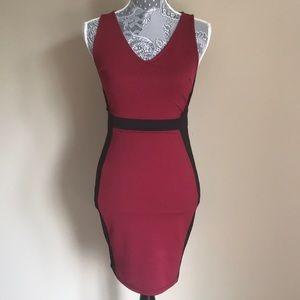 Soprano Colorblock Textured Knit Bodycon Dress